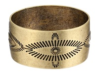 Gypsy Soule Antiqued Etched Wide Bangle Gold Bracelet