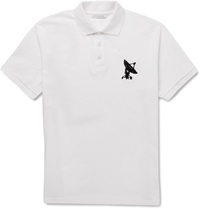 J.W.Anderson Embroidered Cotton Pique Polo Shirt White