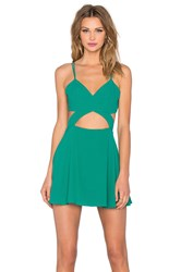 Nbd X Naven Twins Tell Me More Fit And Flare Dress Green