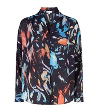 Reiss Didion Printed Blouse Female Navy