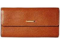 Lodis Stephanie Rfid Under Lock Key Checkbook Clutch Chestnut Checkbook Wallet Brown