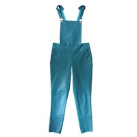 Etrala London Leather Overalls Blue