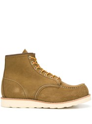 Red Wing Shoes Lace Up Ankle Boots Brown