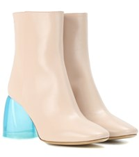 Ellery Sacred Leather Ankle Boots Pink