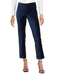 Laundry By Shelli Segal Zipped Stretch Cropped Pants Blue