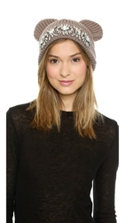 Markus Lupfer Tiara Kitty Ear Beanie Biscuit