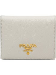 Prada Small Leather Wallet White