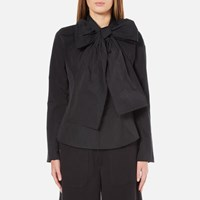 Marc Jacobs Women's Long Sleeve Shirt With Bow Black