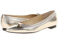 Lauren Ralph Lauren Sally Platino Metallic Kidskin Women's Dress Flat Shoes Bronze