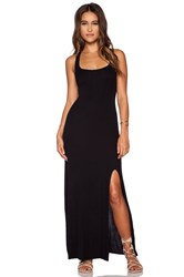 Dolan Tank Maxi Dress With Front Slit Black