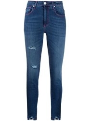 Frankie Morello Distressed Mid Rise Skinny Jeans 60
