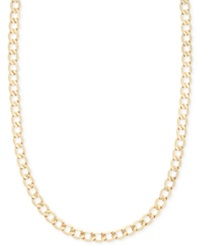 Macy's Curb Chain 22' Necklace In 14K Gold