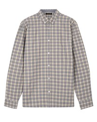Jaeger Mouline Large Check Shirt Mustard