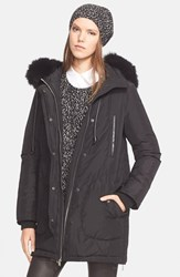 Women's Vince Hooded Parka With Genuine Fox Fur Trim