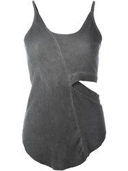 Lost And Found Sliced Camisole Top Grey