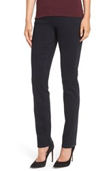 Jag Jeans Petite Women's 'Peri' Straight Leg Pull On Black Void