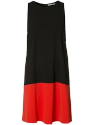 Alice Olivia Shift Sleeveless Dress Black