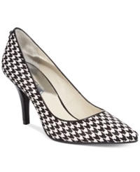 Michael Kors Michael Michael Mk Flex Pumps Women's Shoes Black White Houndstooth