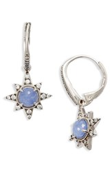 Nadri Women's Holiday Star Drop Earrings Light Sodalite Silver