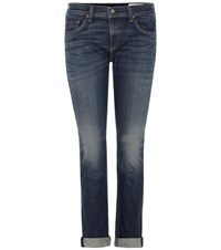 Rag And Bone Dre Mid Rise Slim Boyfriend Jeans Blue