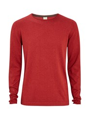 Bench Men's Xenial Crew Neck Jumper Burgundy