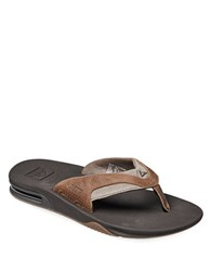 Reef Fanning Leather Thong Sandals Brown