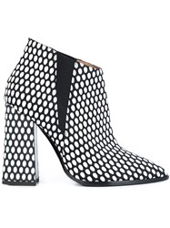 Pollini 'Lame Pop' Boots White