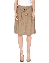 Alviero Martini 1A Classe Skirts Knee Length Skirts Women Khaki