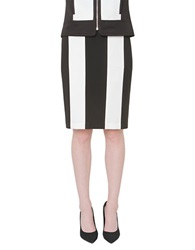 Isaac Mizrahi Striped Pencil Skirt Black White
