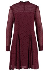 Part Two Fiora Summer Dress Dark Red Bordeaux
