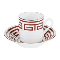 Richard Ginori 1735 Labirinto Scarlatto Coffee Cup And Saucer