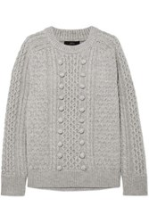 J.Crew Azra Cable Knit Sweater Gray