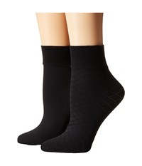Cole Haan 2 Pack Textured Anklet Black Women's Crew Cut Socks Shoes