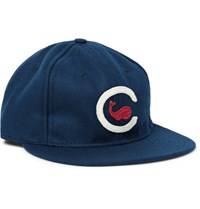 Ebbets Field Flannels 1915 Chicago Whales Appliqued Wool Felt Baseball Cap Blue
