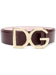 Dolce And Gabbana Buckle Belt Pink And Purple