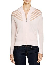 Romy And Ray Stefan Sheer Inset Cardigan Pale Pink