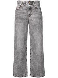 Diesel Bleach Washed Wide Jeans Grey