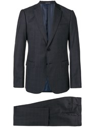 Emporio Armani Single Breasted Suit Blue