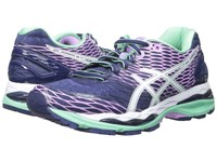 Asics Gel Nimbus 18 Indigo Blue White Spring Bud Women's Running Shoes Purple