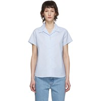 A.P.C. Blue And White Marina Shirt
