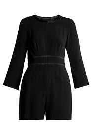 Goat Fillie Long Sleeved Crepe Cady Playsuit Black