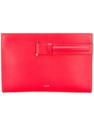 Thierry Mugler Large Pouch Clutch Red