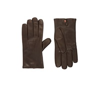 Barneys New York Leather Gloves Brown
