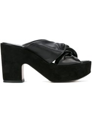 Robert Clergerie Knot Front Mules Black