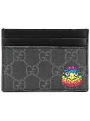 Gucci Gg Supreme Eagle Head Cardholder Black
