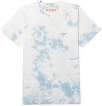 Mollusk Best Tee Ever Tie Dyed Cotton Jersey T Shirt Blue