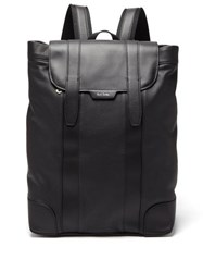 Paul Smith Logo Print Soft Grained Leather Backpack Black