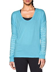 Under Armour Moisture Wicking Logo Tee Sky