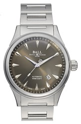 Ball 'Fireman Racer Classic' Bracelet Watch 42Mm Silver Grey