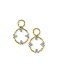 Jude Frances Provence Open Circle Trio Charms With Diamonds Gold